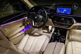 Catalonia Spain March 8 2019 Interior Of The Luxury Motor