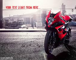 Bike Quotes Awesome Write Quote On Suzuki GSX Bike Picture