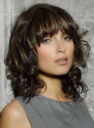 Wavy Hairstyles For Medium Length Hair With Bangs