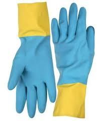 <b>Перчатки латексные</b> (размер M) с <b>неопреновым</b> покрытием ...