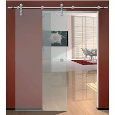 hafele flatec iv sliding door hardware for glass doors up to 220 lbs each with hollow stainless steel track matt
