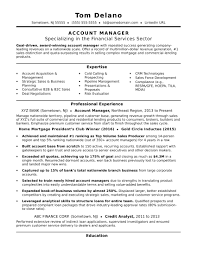 Template Account Manager Resume Sample Monster Com Advert Account
