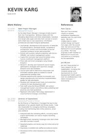 Web Project Manager Resume samples