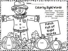 Small Picture Pumpkin Color Words for fall KinderLand Collaborative