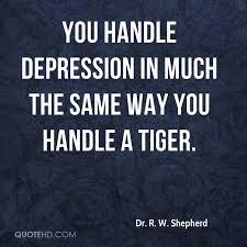 Depression Quote Impressive Dr R W Shepherd Quotes QuoteHD