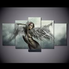 5 Pieces Sex Nude Girl Pictures HD Painting Printed Picture Canvas.