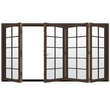 folding patio doors. JELD-WEN 124.1875-in X 80-in Simulated Divided Light Right-Hand Folding Patio Doors