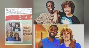 Bengali paper shares Stranger Things actors as Griezmann and Umtiti