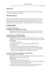 Example Resumes Objectives - Kleo.beachfix.co