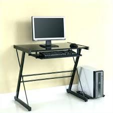 black metal and glass computer desk small glass corner de computer