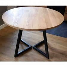 Industrial Vintage Iron Metal Solid Wood Round Folding Dining Table Buy Exotic Wood Dining Tables Metal Leg Dining Wood Table 84 Round Dining