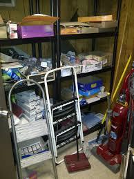 office storage room. BEFORE-Center Shelves Office Storage Room