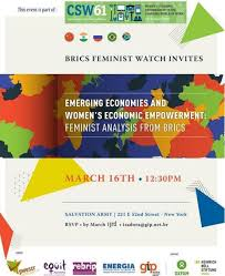 Emerging Economies and Women's Economic Empowerment: Feminist Analysis from  BRICS. - ENERGIA