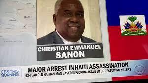 Christian Emmanuel Sanon, the number ...