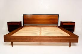 mid century modern king bed. Limited Mid Century Modern King Bed Rustic Birch Wood Size Platform With | Sauriobee Cal Beds. Bedroom Set.