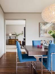 simple home furniture. Example Of A Trendy Dark Wood Floor Dining Room Design In San Francisco With Gray Walls Simple Home Furniture