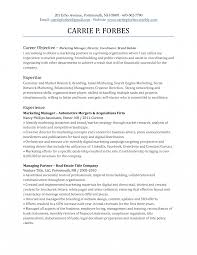 Objective Marketing Resume Toreto Co Tips For Writing Goals And