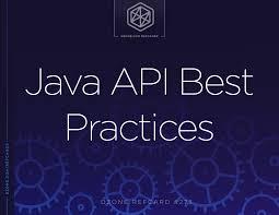 Api Design Best Practices Java Api Best Practices Dzone Refcardz