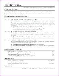 Example Of Rn Resume Perfect Registered Nurse Resume Samples