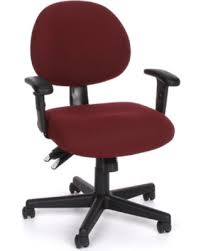 office chair upholstery. Delighful Upholstery MidBack Desk Chair Upholstery Burgundy Fabric Arms Included Inside Office Upholstery