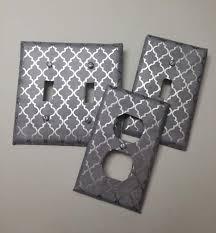 Gray Light Switch Covers Amazon Com Grey Gray Silver Foil Quatrefoil Print Light