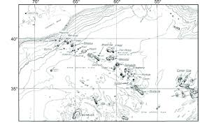 Bathymetric Chart Of The New England Seamount Chain Showing