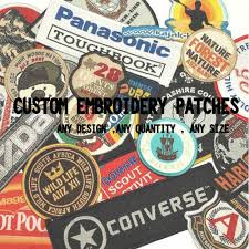 Design Your Own Club Us 1 0 Custom Embroidery Patches Iron On Hook Backing With Your Own Logo Design Personalized Team Club School Logo In Patches From Home Garden On