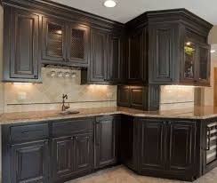 antique black kitchen cabinets. Mdf Prestige Cathedral Door Winter White Black Distressed Kitchen Cabinets Backsplash Herringbone Tile Stone Limestone Countertops Sink Faucet Island Antique U