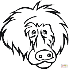Small Picture Face Of Baboon coloring page Free Printable Coloring Pages
