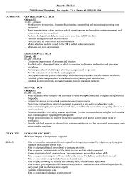 Service Tech Resume Service Tech Resume Samples Velvet Jobs