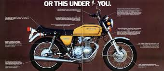 vintage honda motorcycle ads. honda cb400f cb550f with this ahead of you vintage ad motorcycle ads m