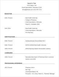 Simple Resume Formate New Graduate Resume Template Easy Simple
