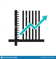 Data Chart Icon Data Analytics Ascending Line Chart Icon Vector Sign And