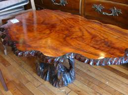 diy tree trunk coffee table