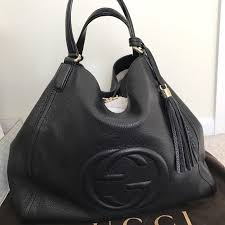 gucci bags black. ❌sold❌ gucci large soho bag black bags