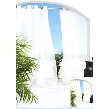escape grommet top voile x inch indoor outdoor curtain panel panels decorating pair home depot