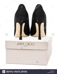 Footwear Designer Jimmy Pair Of Boxed Jimmy Choo High Heeled Designer Shoes Stock
