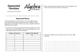 Exponential Functions Worksheet | Math Confessions' Blog
