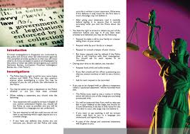 pamphlet introduced to educate those arrested on legal rights the