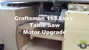 craftsman table saw model 113 new motor