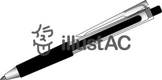 ボールペン黒イラスト No 809343無料イラストならイラストac