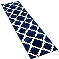 navy blue runner rug navy trellis runner navy blue and white runner rug