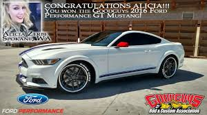 Alicia Zerbe Wins Goodguys Giveaway 2016 Ford Performance Mustang Gt