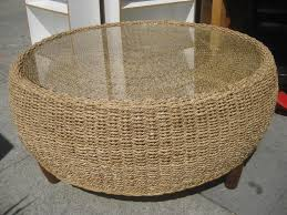 Coffee Table Rattan Round Rattan Coffee Table With Stools Rattan Tables