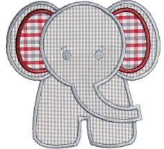 Best 25+ Elephant applique ideas on Pinterest   Cute elephant ... & Elephant Applique Design Sizes include: hoop x hoop x hoop x This design  also comes with a zig zag finish in each size Adamdwight.com