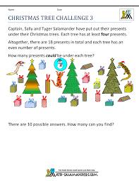 Christmas Math Worksheetsfree christmas math worksheets christmas tree challenge 3 · Christmas Tree Challenge 3 ...