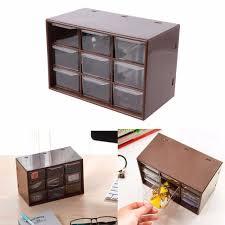 plastic storage drawers. New 9 Drawer Plastic Storage Cabinet Desktop Makeup Bin Box Jewellery Organizer Home Drawers 2