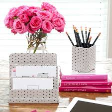 pink office desk. Pink Desk Accessories Flower Office