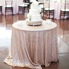 tablecloth champagne 90 inch round linen outdoor sequin home design