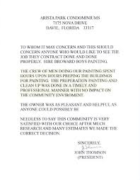 Intro To Recommendation Letter Broward Painters Broward Painting Commercial Painting